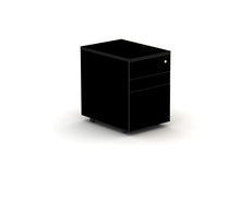 Load image into Gallery viewer, Black  under desk drawer pedestal, lockable and on casters