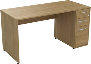 Desk with drawers natural oak