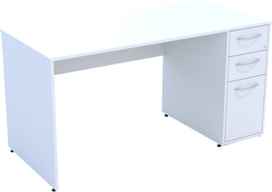 Desk with drawers white