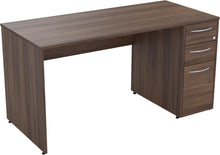 Load image into Gallery viewer, Desk with drawers natural walnut