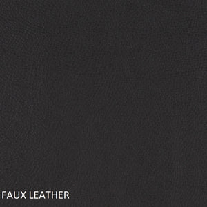 Work chair black faux leather swatch