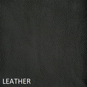Leather work chair black fabric