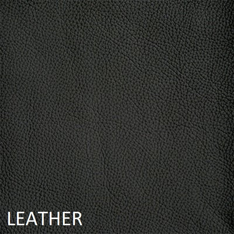 Leather work chair black swatch