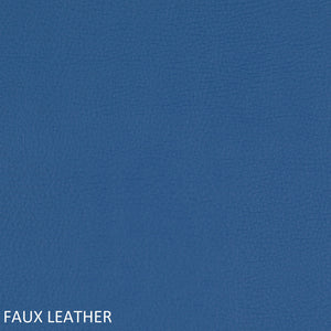 Work chair blue faux leather swatch