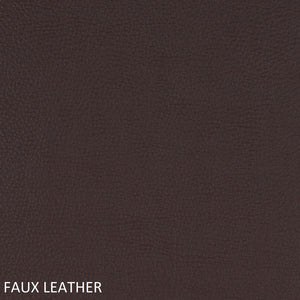 Work chair brown faux leather swatch