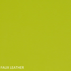 Work chair lime green faux leather swatch