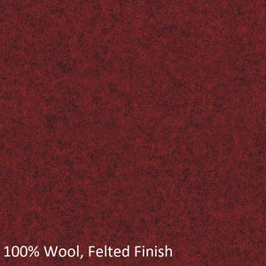 Upholstered work chair red wool fabric swatch