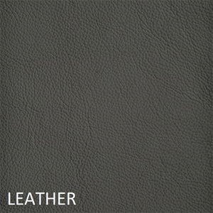 Leather work chair grey fabric