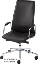 Load image into Gallery viewer, HIgh Back Executive chair, black faux leather