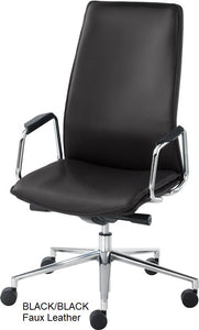 HIgh Back Executive chair, black faux leather