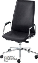 Load image into Gallery viewer, HIgh Back Executive chair, charcoal wool