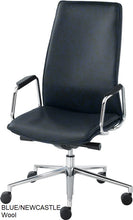 Load image into Gallery viewer, High Back Executive chair, blue wool