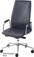 Load image into Gallery viewer, High Back Executive chair, grey wool