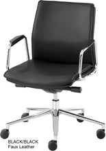Load image into Gallery viewer, Work chair,  Black Faux Leather