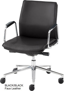 Work chair,  Black Faux Leather