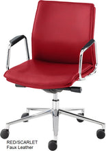 Load image into Gallery viewer, Work chair, Red Faux Leather