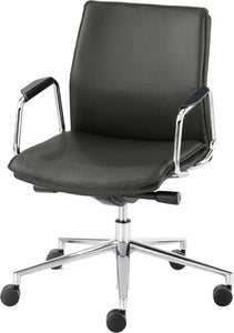 Express Delivery Executive Leather Work Chair HBB1 Medium Back