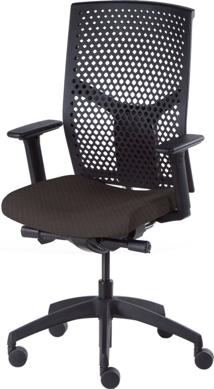 Desk chair, mesh black back and black seat