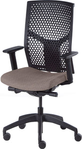 J2 Desk chair, mesh black back and grey seat