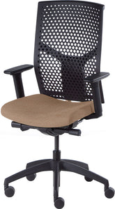 J2 Desk chair, mesh black back and oatmeal seat