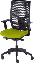 Load image into Gallery viewer, J2 Desk chair, mesh black back and green seat