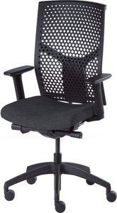 Desk chair, mesh black back and charcoal seat