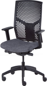 Desk chair, mesh black back and grey seat