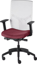 Load image into Gallery viewer, J2 Desk chair, mesh white back and mauve seat