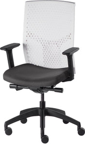 J2 Desk chair, mesh white back and black seat