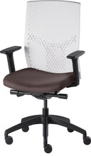 Load image into Gallery viewer, J2 Desk chair, mesh white back and brown seat