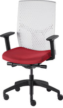 Load image into Gallery viewer, J2 Desk chair, mesh white back and red seat