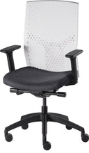 Load image into Gallery viewer, J2 Desk chair, mesh white back and charcoal seat