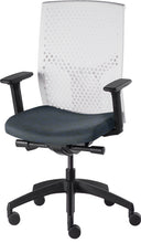 Load image into Gallery viewer, J2 Desk chair, mesh white back and blue seat