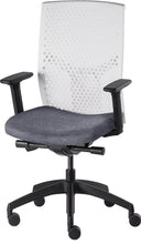 Load image into Gallery viewer, J2 Desk chair, mesh white back and grey seat