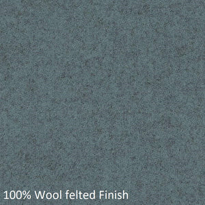 Mesh back work chair blue-grey wool fabric swatch