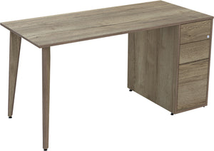 natural Halifax oak desk with drawers