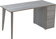 Load image into Gallery viewer, white Haifax oak desk with drawers