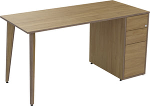 Natural oak desk with drawers