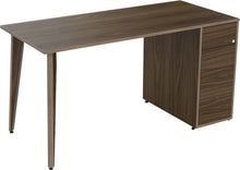 Load image into Gallery viewer, natural walnut veneer desk with drawers
