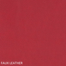 Load image into Gallery viewer, Work chair red faux leather swatch