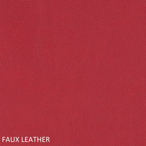 Work chair red faux leather swatch