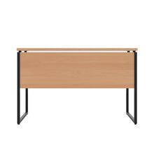 Load image into Gallery viewer, Beech Milton desk, black frame, back view