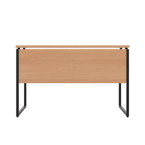 Beech Milton desk, black frame, back view
