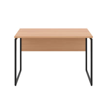 Load image into Gallery viewer, Beech Milton desk, black frame, front view