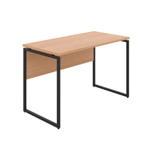 Load image into Gallery viewer, Beech Milton desk, black frame, front angle view