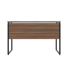 Load image into Gallery viewer, Dark Walnut Milton desk, black frame, back view