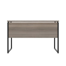 Load image into Gallery viewer, Grey Oak Milton desk, black frame, back view