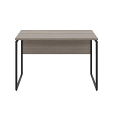 Load image into Gallery viewer, Grey Oak Milton desk, black frame, front view