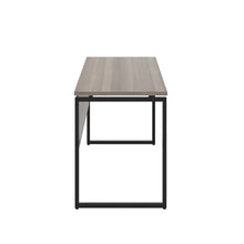 Load image into Gallery viewer, Grey Oak Milton desk, black frame, side view