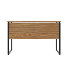 Load image into Gallery viewer, Oak Milton desk, black frame, back view